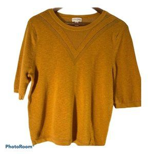 Maison Jules gold 1/2 sleeve knit top
